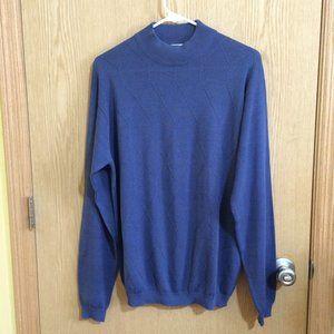 Bachrach Silk Blend Mock Neck  Men's Sweater